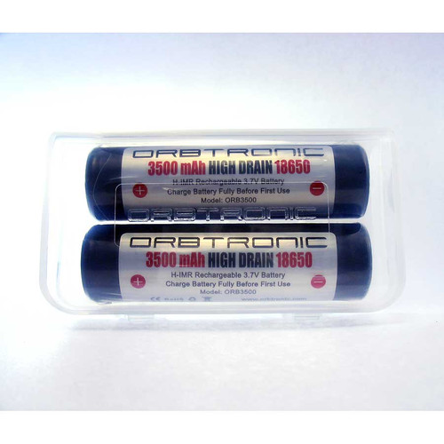 Flat Top 18650 3500mAh Battery High Drain High Discharge IMR   3.7V  Orbtronic