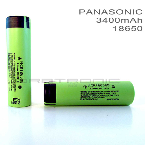 18650 Battery Combo Kit - Charger & 2 Panasonic 3400mAh Li-ion NCR18650B