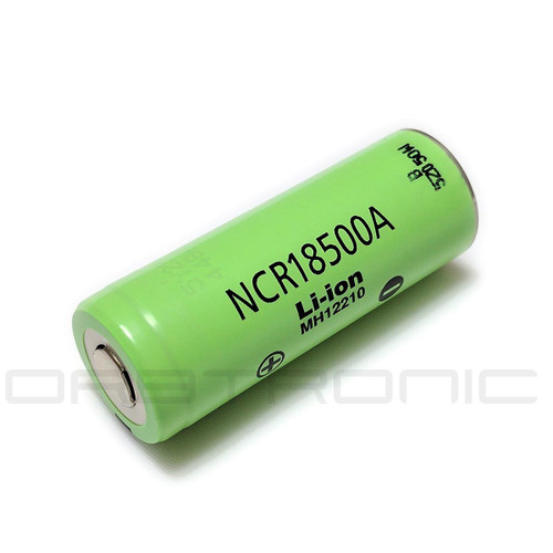 18500 Battery Panasonic NCR18500A li-ion Rechargeable Flat Top 3.7V