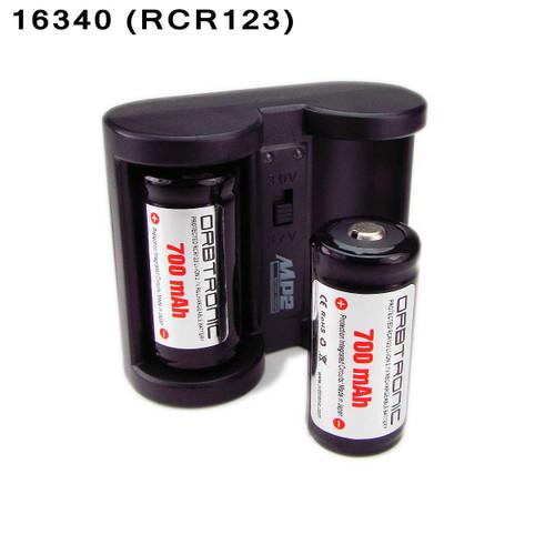 16340 Battery Protected 700mah Li Ion Rechargeable 3 7v