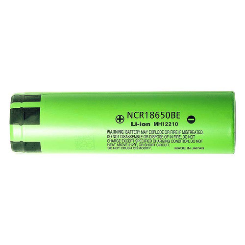18650 Battery Panasonic NCR18650BE 3200mAh li-ion 3.7V flat top - case included