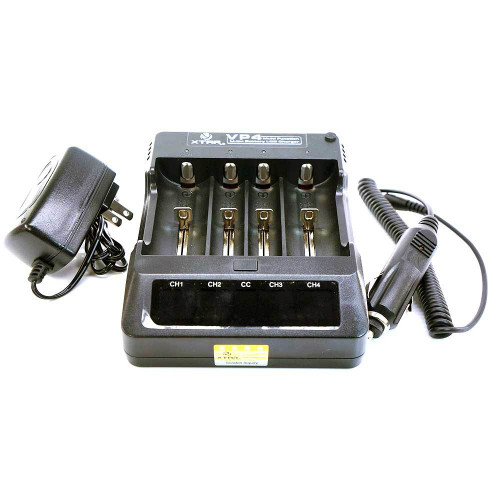 Xtar VP4 Li-ion Battery Charger 4 Bays w LCD Display