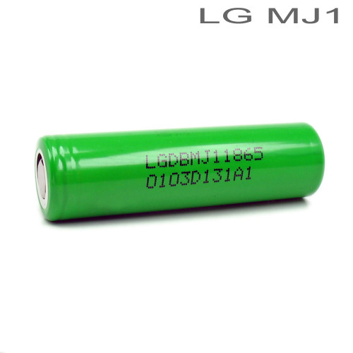 LG MJ1 3500mAh 18650 Li-ion Battery INR18650-MJ1 Flat Top High Drain (Battery Holder Included)