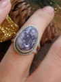 Pretty Pastel Purples Tiffany Stone Gemstone Ring in Sterling Silver (Size 7)
