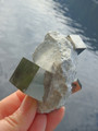 Fantastic Triple Cubes Pyrite Natural Cluster From Spain