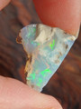 Layers of Blue Green Flash Raw Ethiopian Opal Collectors Specimen 1
