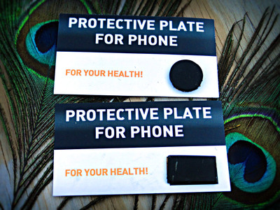 SHUNGITE EMF Protective Cell Phone Chips (Circle & Rectangle)