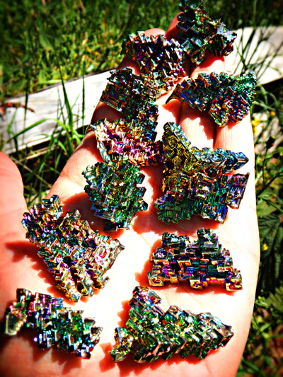 Amazing  Rainbow Bismuth Specimen (1)