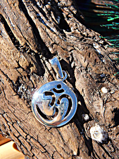 OHM Circle Sterling Silver Pendant