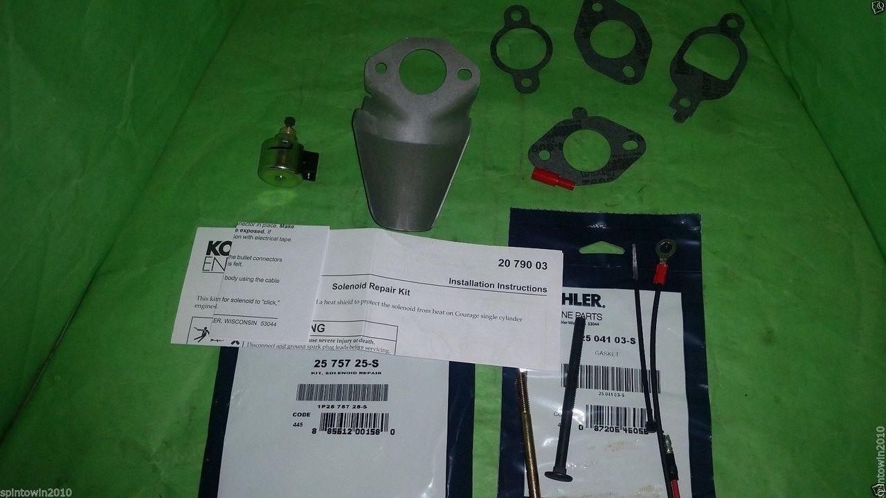 Genuine OEM Kohler Engines Kit Solenoid Fuel Shut-Off Repair - 25 ...