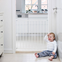 BabyDan No Trip Wall-Mounted Metal Safety Gate - White (72.5 - 78.5 cm)