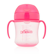 Dr Brown's Pink Training Cup Soft Spout 180Ml