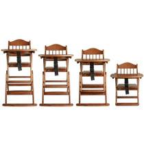 Safetots Folding Wooden High Chair Dark Wood Safetots