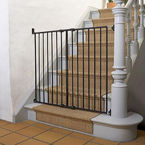 Babydan Quick Release Extra Tall Safety Gate Black on stairs