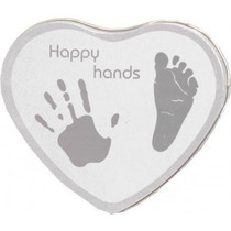 Happy Hands Hand & Footprint Tin Silver