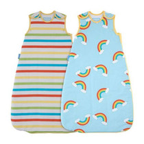 Grobag - Rainbow Stripe - Wash & Wear - Twin pack 1 Tog