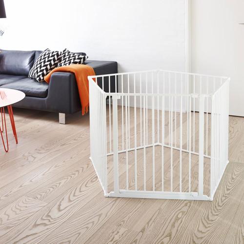 BabyDan Room Divider XXL White 90 350cm Wall Fittings