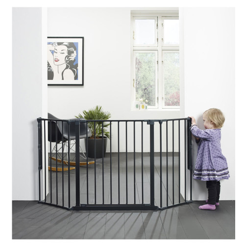 BabyDan Configure Flex Gate Medium - Black (90-146 cm)