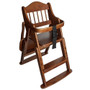 Product Safetots Folding Wooden High Chair Dark Wood