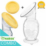 Haakaa Silicone Breast Pump 150ml with Lid