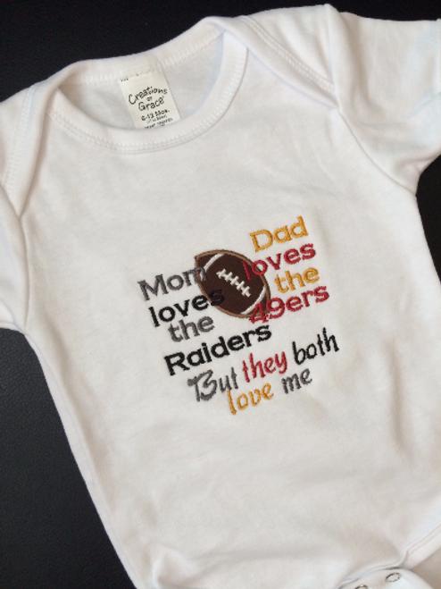 Split Football Baby Divided