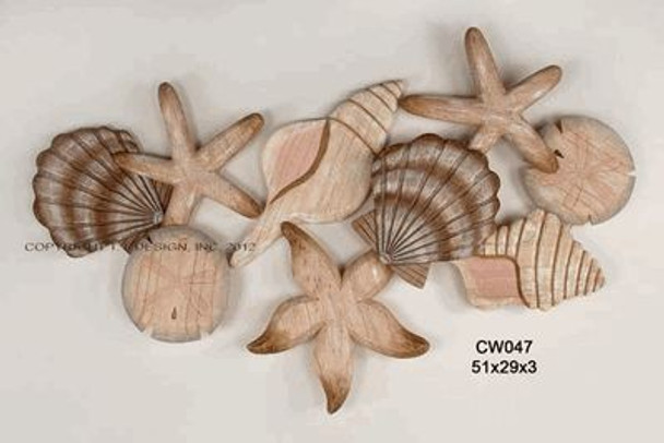 CARVED CLUSTER SHELL LRG