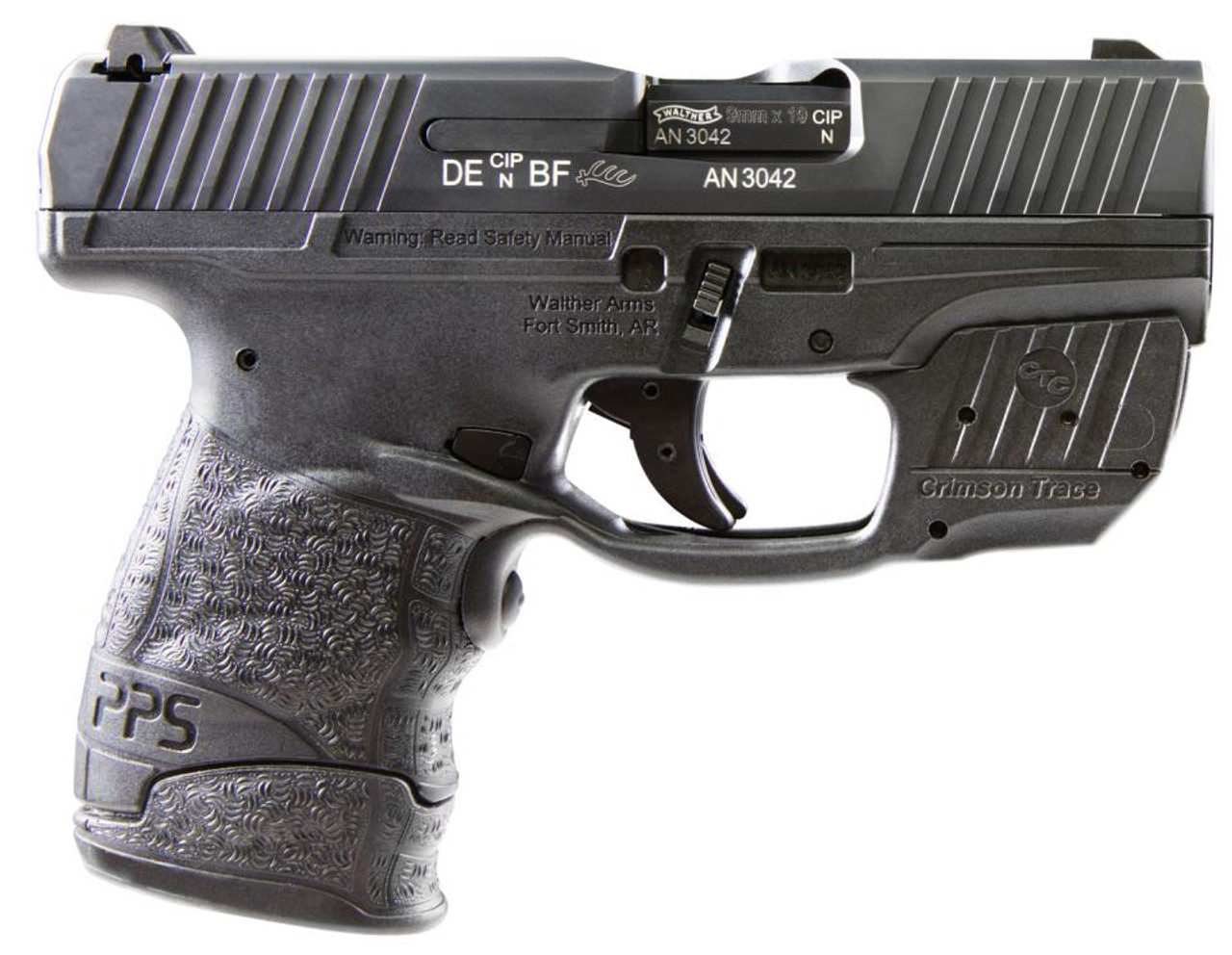 walther pps m2 9x19 wa with crimson trace laser 2 mags 9mm impact rh impactguns com 9 Millimeter Handguns P PPS vs Glock 26
