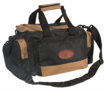 Outdoor Connection Deluxe Range Bag Multiple Pockets Water Resistant Tan and Black