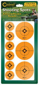 """Battenfeld Technologies Caldwell Non-Flake Shooting Spots 1"""" 72 Per Package 2"""" 36 Per Package Total Quantity 108"""