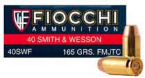 Fiocchi .40 S&W, 165 Gr, FMJTC, 250 Rds