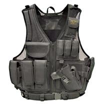 Galati Gear Deluxe Tactical Vest Husky Sz Nylon Black