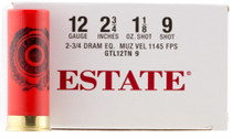 """Estate Dove and Target 12ga, 2.75"""", 1-1/8oz, 9 Shot, 250rd/Case (10 Boxes of 25rd)"""