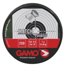 Gamo Match Pellets .22 Caliber Flat Nose 250 Per Tin