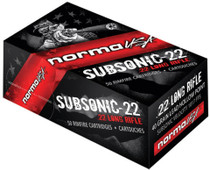 Norma Subsonic 22 LR 40 Grain Hollow Point High Performance Target 50 round Box.
