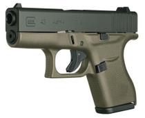"Glock 43 9mm Single Stack 3.39"" Barrel Fixed Sights OD Green 6rd Mag - Austria Made"