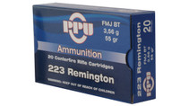 PPU Ammo 5.56mm XM193 55gr, FMJ, 20rd/Box, 50 Box/Case#2