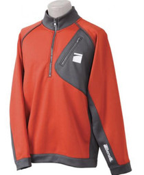 Benelli Performance Orange/Gray Pullover, Small