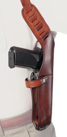 "Bianchi X-15 Shoulder Holster Large Frame 6-6.5"" Size 4 Plain Tan Right Hand"