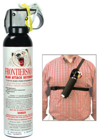 Sabre Frontiersman Bear Spray With Chest Holster 9.2 Ounce#2