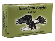 Federal American Eagle .223 Rem/5.56mm 62gr, FMJ, Boat-tail, 20rd/Box, Green/White Box#2