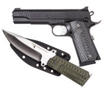 "Desert Eagle 1911 Pistol/Knife Combo .45 ACP 5"" Barrel  8rd Mag Plus 1911 Fixed Blade Knife W/Sheath"