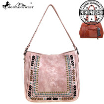 Montana West Studs Collection Concealed Handgun Tote, Pink