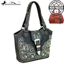 Montana West Concealed Handgun Collection Tote, Coffee#2