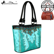 Montana Tooled Collection Concealed Handgun Tote, Black