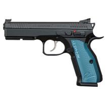 "CZ SP-01 Shadow 2, 9mm, 4.9"", Adj. Target Sights, Steel Frame, Blue Aluminum Grips, 17rd Mag#2"