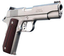 "Ed Brown Kobra Carry Single 45 Automatic Colt Pistol (ACP) 4.25"" 7+1 FOF Laminate Wood Grip Stainless Steel"