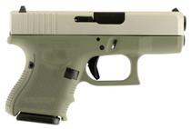 """Glock G26 9mm, 3.5"""", 10rd, Forest Green Frame, Stainless Steel Slide"""