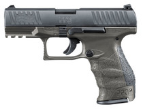 "Walther Arms PPQ M2 Single/Double 9mm 4"" 15+1 Black Interchangeable Backstrap Grip Gray"