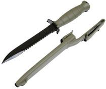 """Glock Field Knife Field w/Sawback 6.5"""" Spring Steel HRC55 Phosphate-KF039181"""