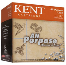 "Kent All Purpose Diamond Shot 12 Ga, 2.75"", 4 shot, 1.125oz, 25rd/Box"